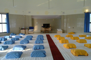 Inside of Large Meditation Dhamma Hall